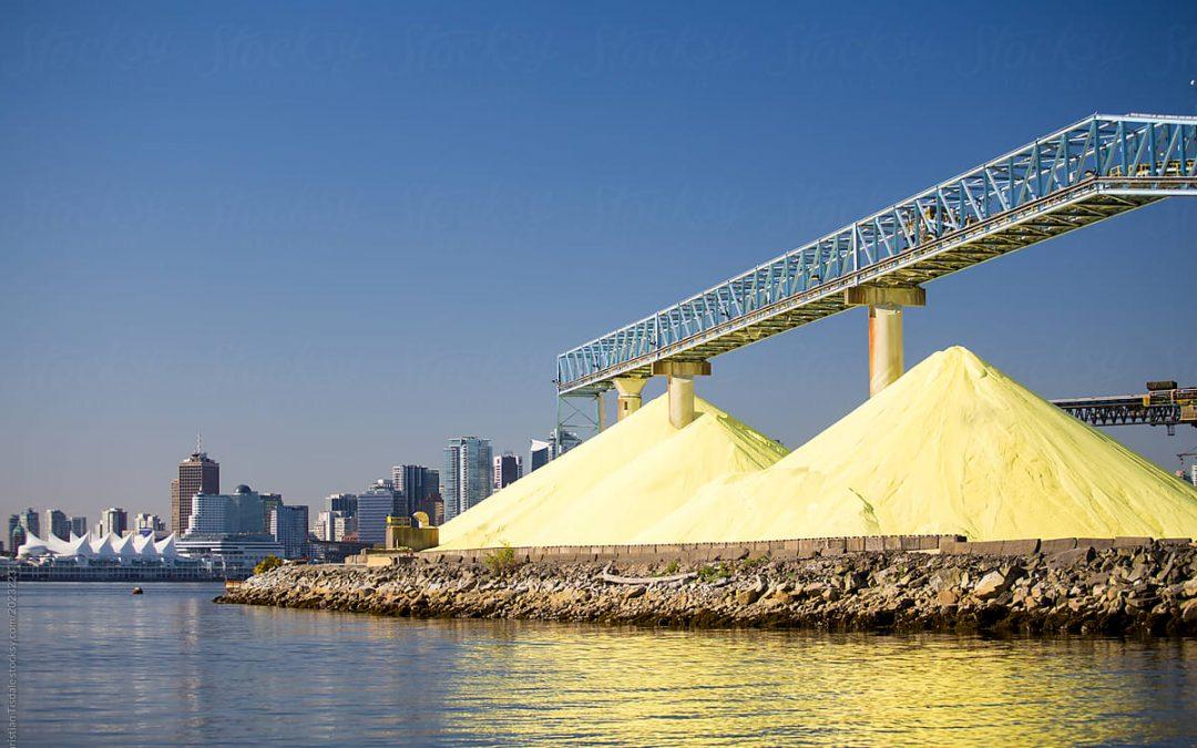 El viaje del azufre: de Canadá a Mejillones